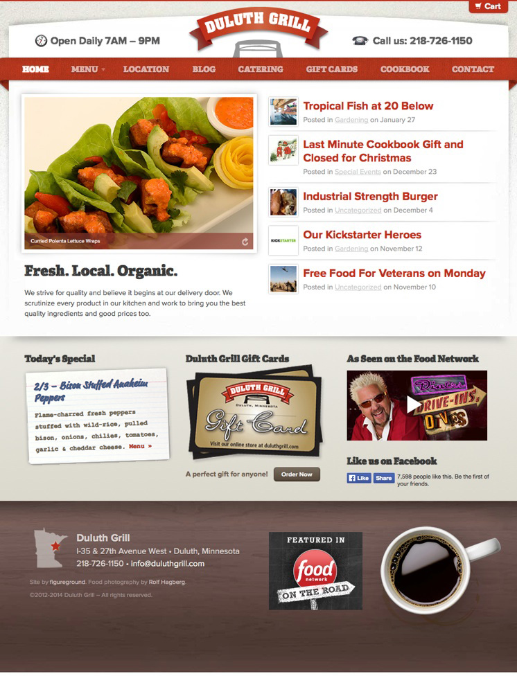 Duluth Grill Website Design & Development