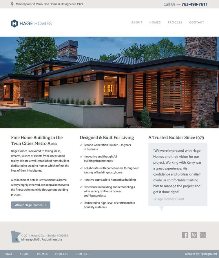 Hage Homes Web Design