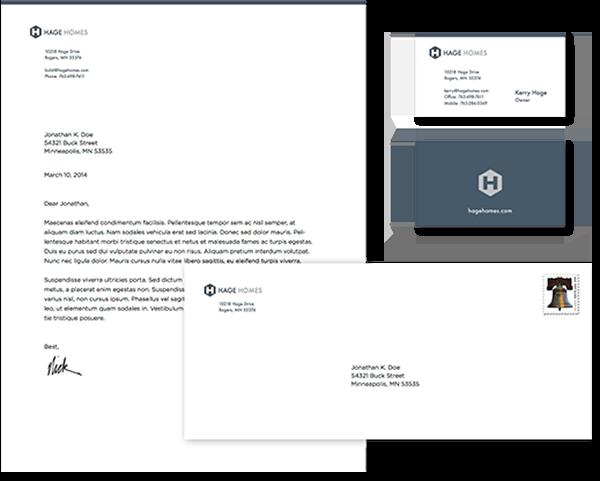 Stationery System Design, Letterhead, Envelope, Business Cards