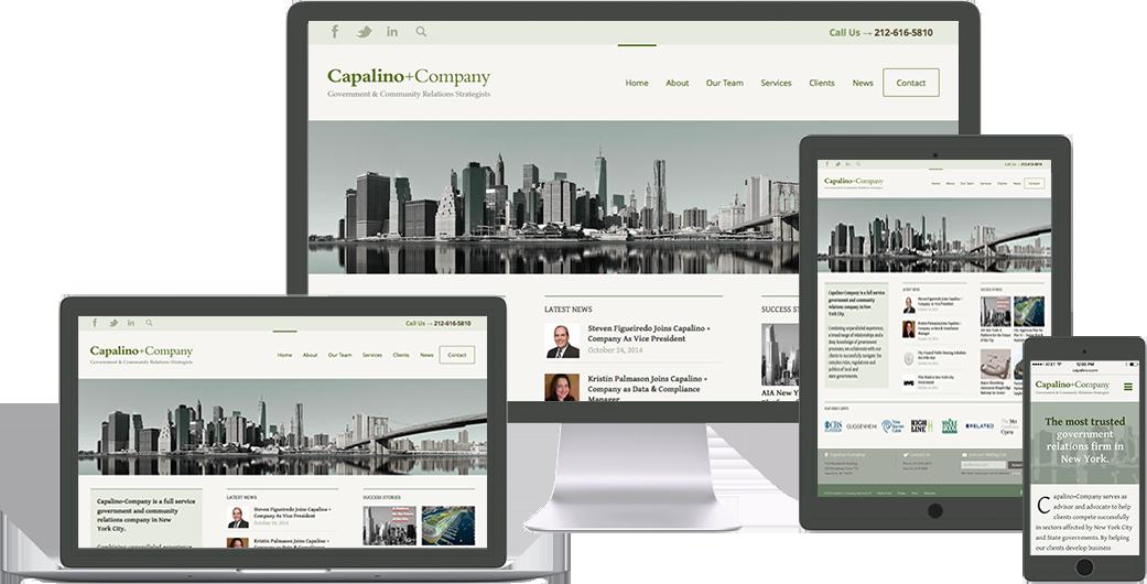 capalino-company website design