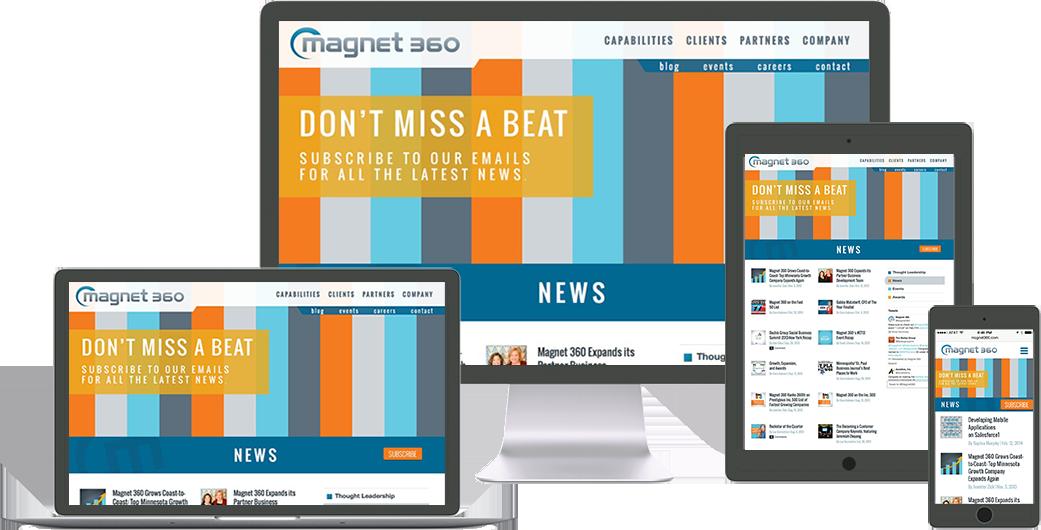 magnet-360 website design