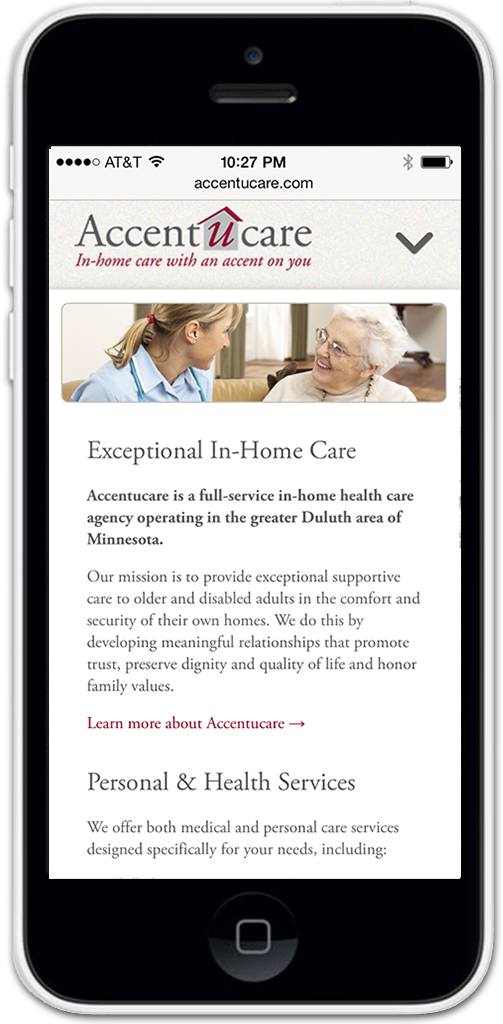 Accentucare Health Care Website Design