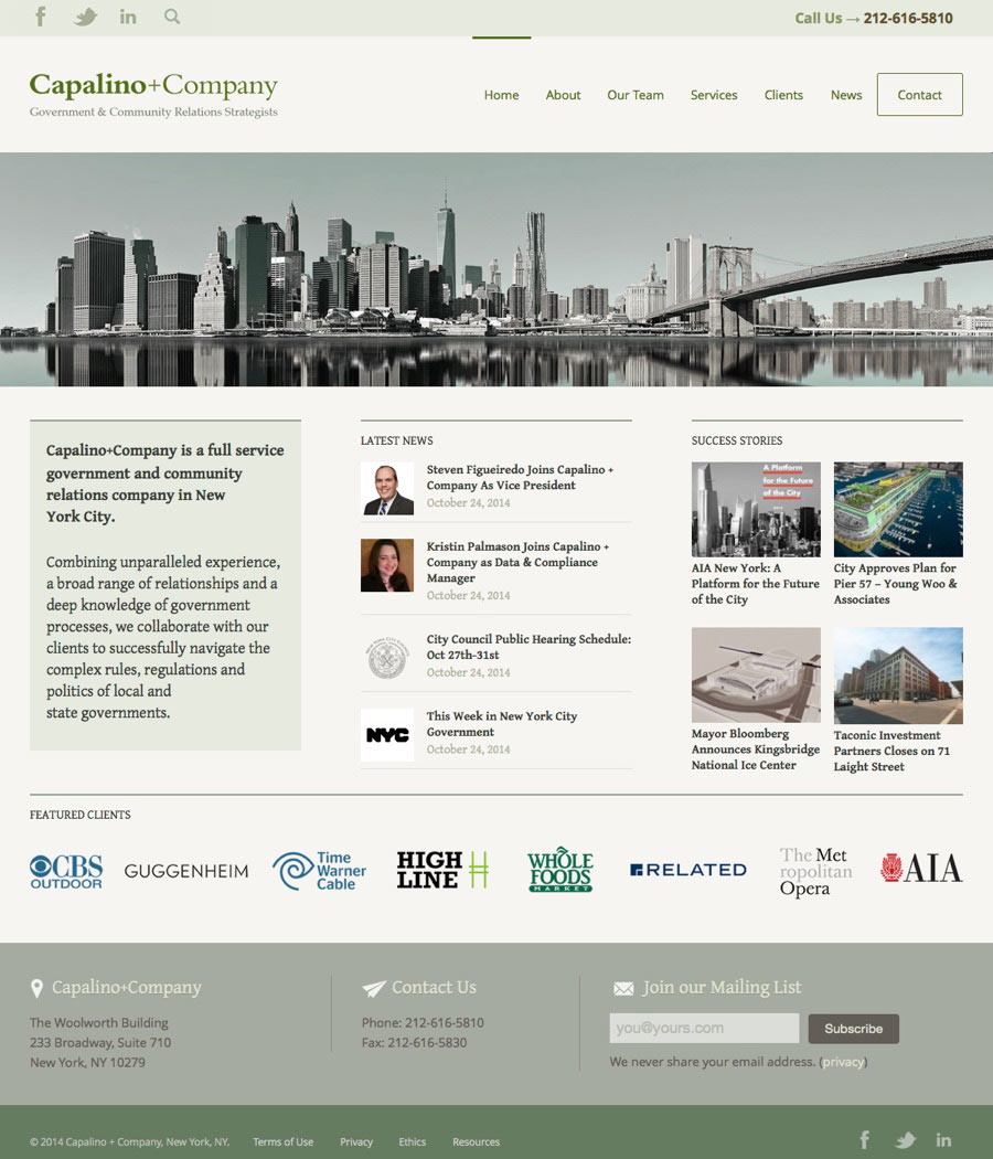 New York Consulting Web Design