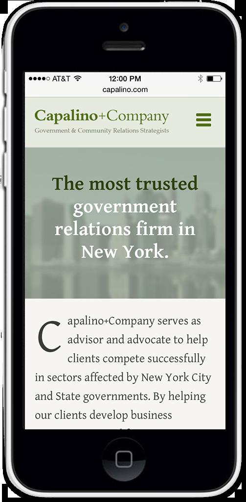 Mobile Web Design Capalino + Company