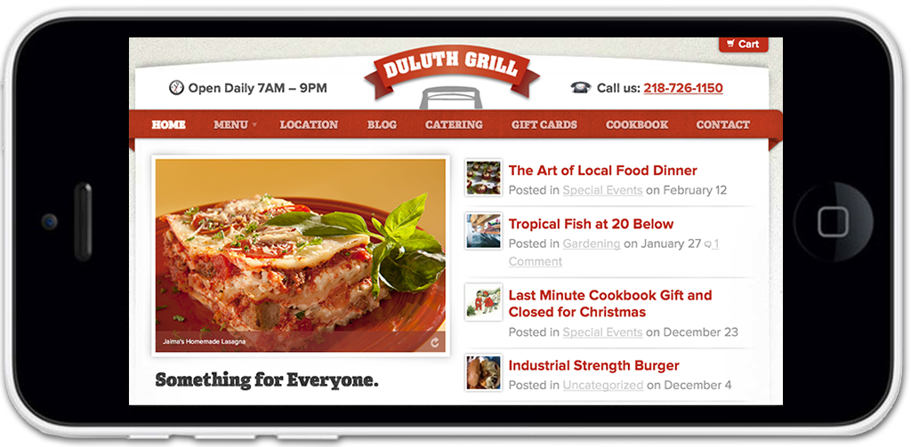 Duluth Grill Restuarant Website Design & Development