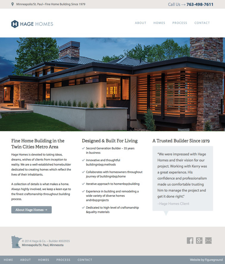 Hage Homes Web Design