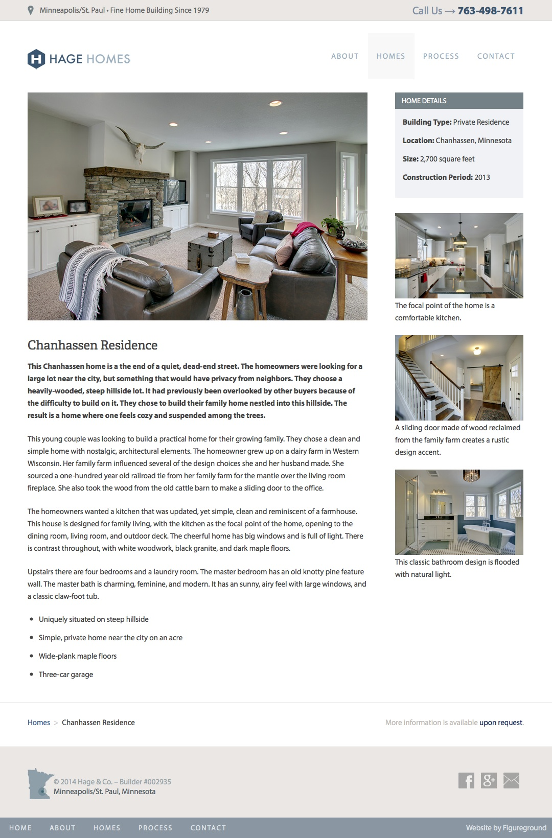 Hage Homebuilders Web Design