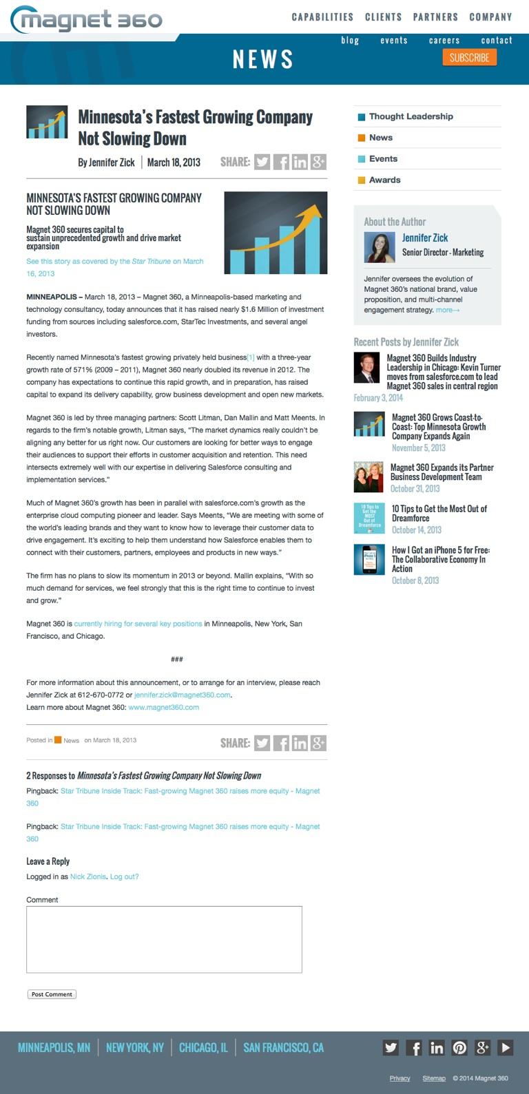 Magnet 360 Blog template design