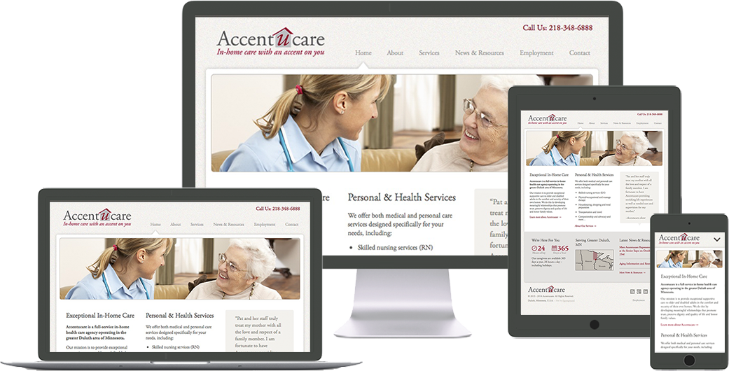 accentucare website design