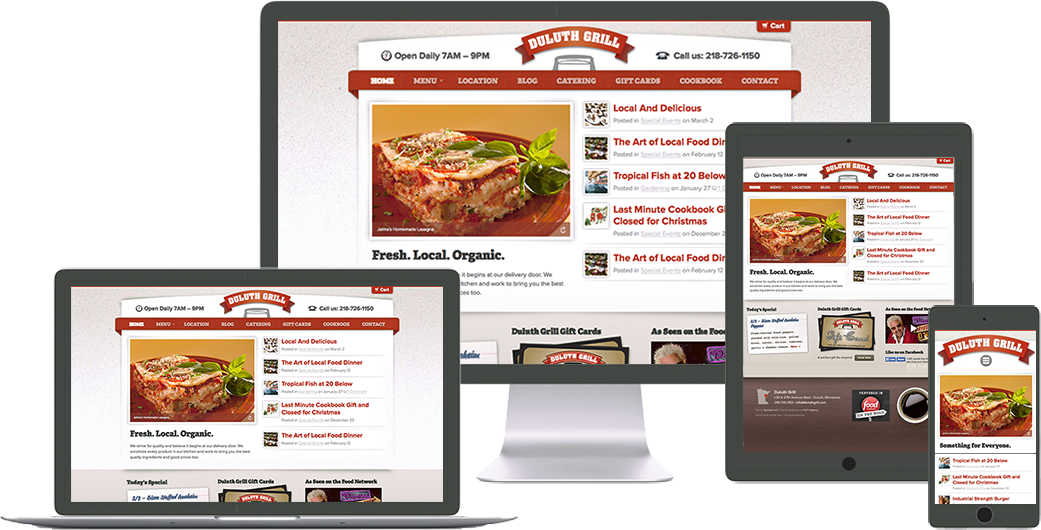 duluth-grill website design