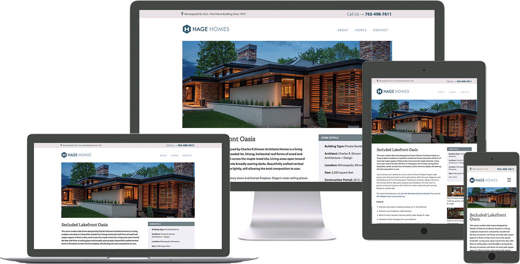 hage-homes website design