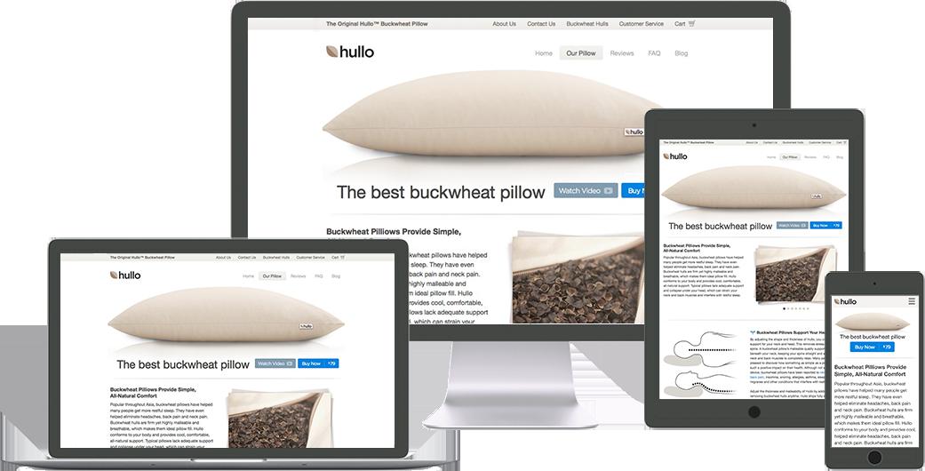 hullo website design