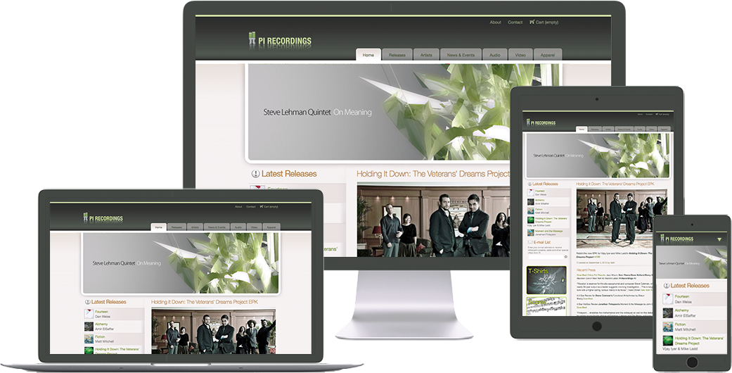 pi-recordings website design