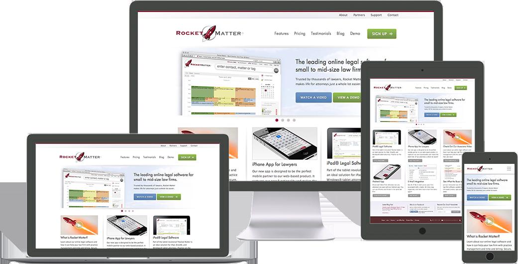 rocket-matter website design