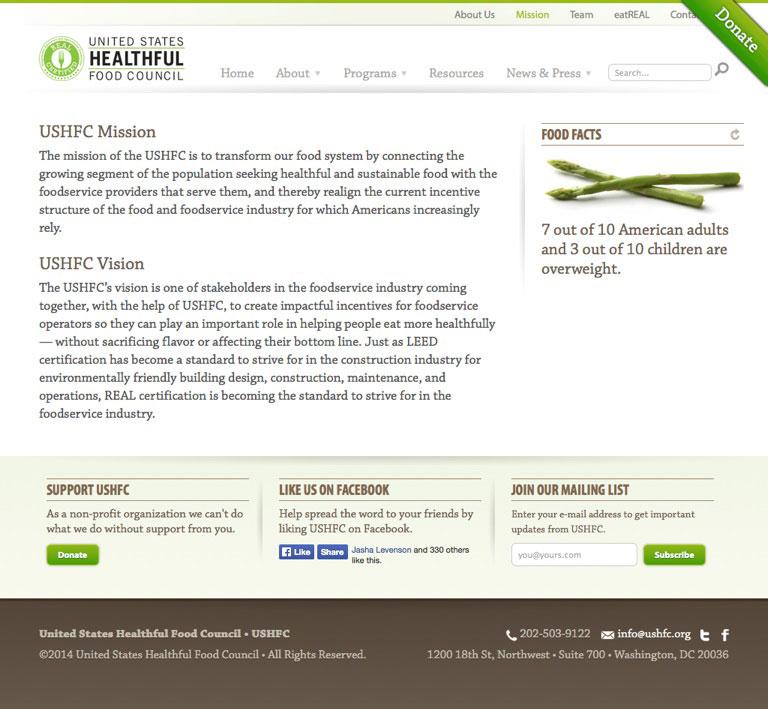 United States Healthful Food Council, Washington, D.C.